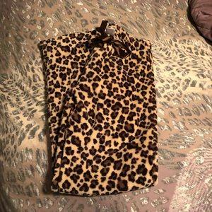 Leopard pajama pants! Size M!